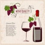 Grunge wine background — Stock Vector #53528593