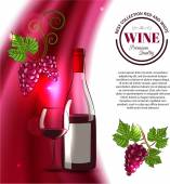 Shining wine background — Stockvector
