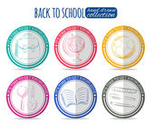 Set of back to school stickers — Stock Vector