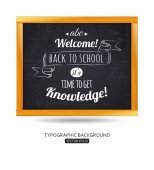 Back to school typographical background — Stock Vector