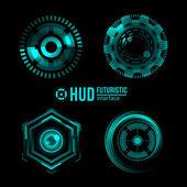 Futuristic HUD interface elements. — Vector de stock