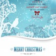 Merry christmas background with winter landscape — Vector de stock  #55503523