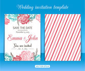 Collection of wedding invitation templates. — Stock Vector