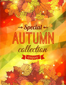 Autumn sale typographical background — Stockvektor