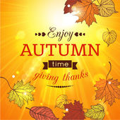 Autumn sale typographical background — 图库矢量图片