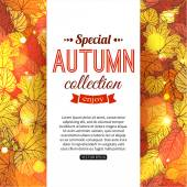 Autumn sale typographical background — Stock Vector