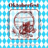 Oktoberfest typographical vintage background — Stock Vector