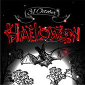Shining halloween typographical background — Vetorial Stock