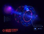 Futuristic HUD interface elements — Vector de stock