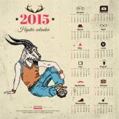 2015 calendar with goat. — Stockvector