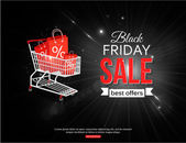 Black friday sale background — Stock Vector