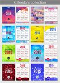 Set of 2015 calendar template brochures. — Stock Vector