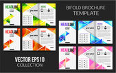 Сorporate business stationery bifold brochure templates. — Stock Vector