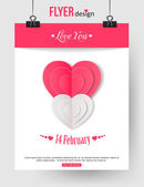 Valentine's Day brochure template — Stock Vector