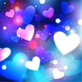 Happy Valentine's day glow background — Stockvector