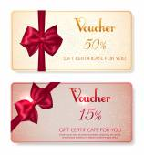 Collection of voucher gift cards — Stock Vector