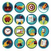 Negocios y Finanzas iconos flat — Vector de stock