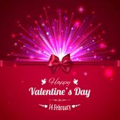 Šťastný Valentýna typografické pozadí — Stock vektor
