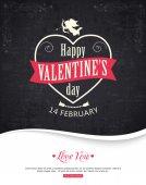 Typograficzne tło valentine's day — Wektor stockowy