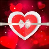 Happy Valentine's day glow background — Stock Vector