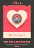 Valentines Day brochure template — Stok Vektör