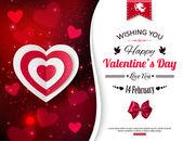 Mutlu Sevgililer günü tipografik arka plan — Stok Vektör