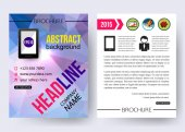 Brochure template with infographics — Stock Vector