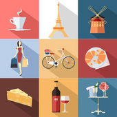 France  flat icons — Stock Vector
