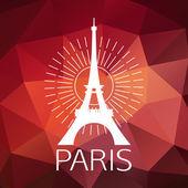 Eiffel Tower label — 图库矢量图片