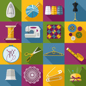 Sewing icons set. — Stock Vector
