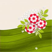 Floral wedding background with paper flowers — Cтоковый вектор