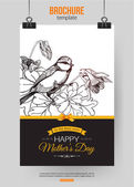 Happy Mothers Day Typographical Background — Stok Vektör