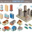 Постер, плакат: Big collection for isometric city buildings