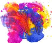 Colorful paint blot — Stock Photo