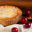 Homemade pie with plum — Stock Photo #59707093