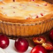Homemade pie with plum — Stock Photo #59707101