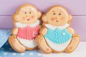Baby shower icing cookies — Stock Photo