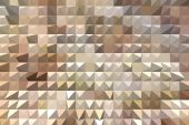 Abstract beige background with pyramid extrude — Stock Photo