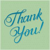 THANK YOU hand lettering -- custom handmade calligraphy, vector  — Stock Vector