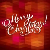 MERRY CHRISTMAS hand lettering -- handmade calligraphy, vector  — Stock Vector