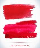 Wet brush stroke on paper texture. — Stock Vector