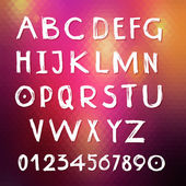 Handmade english alphabet — Stock Vector