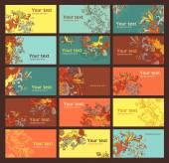 Farbige visitenkarten — Stockvektor