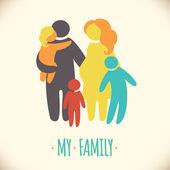 Happy family icon — Stock Vector