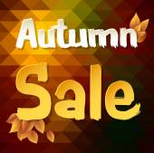 Autumn sale constructor. — Stockvektor