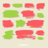 Watercolor vector strokes — Stock Vector