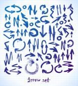 Arrows on school notebook — Stok Vektör
