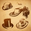 ������, ������: Vector Collection of Vintage Hats