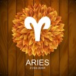 Постер, плакат: Aries horoscope white sign