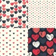 Seamless patterns with colorful hearts — Stock Vector #58283609